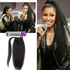 16-20'' 2017 New Kinky Straight Style Human Hair Ponytail Women Nature Look