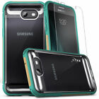 Galaxy J7 Prime 2017 Case, Zizo FLUX Series w/Screen Protector- Clear Back- J7 V