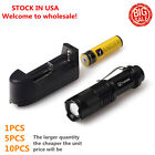 Vander 5000LM Q5 LED Flashlight durable Focus Torch +18650 Battery+Charger `