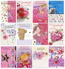 TRADITIONAL FLORAL GRANDDAUGHTER BIRTHDAY GREETING CARD 1ST P&P