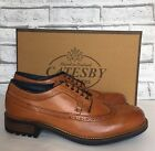 Mens Catesby Tan Leather Combat Sole Brogue Shoes UK 7 - 12
