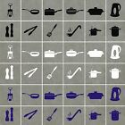 KITCHEN UTENSILS Stickers (decals) Waterproof,will work on tiles/glass/ceramics