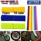 Wheel Spoke Wraps Skins Coat Trim Cover Pipe Motocross Dirt Pit Bike ATV Scooter