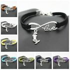 new Fashion Charm Mermaid  Animal Infinity Love woven Bracelet jewelry gift