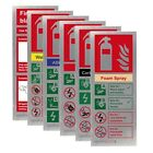 Stainless Steel Fire Extinguisher ID Signs