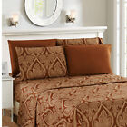 1800 Series Paisley Egyptian 6 Pieces deep Pocket  Bed Sheet Set Multi-Colors