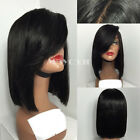Short Bob Straight wig Heat Resistant Synthetic Lace Front Wig With Baby Hair