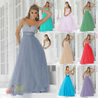 Long Sweetheart Empire Waist Bridesmaid Party Formal Gown Prom Dress