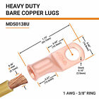 Selterm Bare Copper Lugs Ring Terminals Heavy Duty Battery Wire Welding Cable