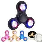 Metal Fidget Finger Tri-Spinner Focus Anti Stress Kids Adults Toy with LED Light