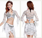 Practic Lace Belly Dancing Costumes Set Top+Skirt M L