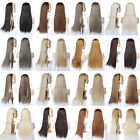 blonde to strawberry blonde hair - Straight Long Half Wig Fall Natural Hair Fall 3/4 Wig Hairpiece Half Head Wig