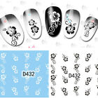 Nail Art Water Decals Transfer Stickers Floral Arabesque Decoration D432