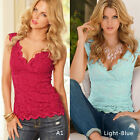 Fashion Women's Summer Lace Vest Top Sleeveless Casual Tank Blouse Tops T-Shirts