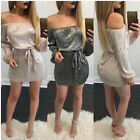 The Ladies Womens Long Sleeve vintage Dress  Summer Bodycon cocktail party Dress