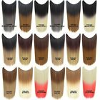 """22"""" Synthetic Long Straight Invisible Fish Wire Hair Extensions Color Gradient"""