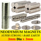 Neodymium Magnets (3mm Dia x 3mm) N35 Super Strong Disc Rare Earth Craft Disk