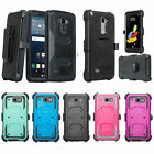 LG Phones Rugged Holster [Built-in Screen Protector] Case Cover with [Kickstand]