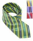 Country Club Striped Microfiber Polyester Woven Self Loop Tie (BGMPW4901)
