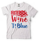 Red Wine and Blue T-Shirt 4th of July Tee Shirt Independence Day Fourth of July