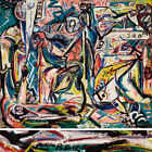 """38W""""x32H"""" CIRCUMCISION 1946 by JACKSON POLLOCK DRIP PAINTING - CHOICES of CANVAS"""
