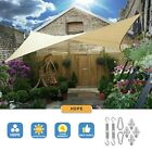 8'x12' Rectangle Sun Shade Sail Patio Outdoor Canopy UV Block Top Cover W/ Kit