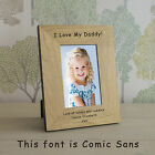 Personalised ANY MESSAGE Oak Veneer Photo Frame 6x4* or 7x5* Engraved