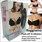 Reggiseno DONNA PUSH UP con STRINGHE INVISIBILE SILICONE TAGLIE COPPE A B C