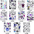 Watercolor Body Makeup Fake Small Pattern Feather Wolf Temporary Tattoo Sticker