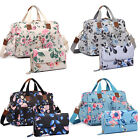 Floral Mummy Changing Bag Large  Maternity Nappy Diaper Wipe Clean Purse