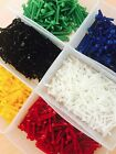 VARIOUS COLOURS - 5 PACK M2 & M3 Nylon Slotted BOLTS NUTS & WASHERS FREE UK POST