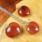 Heart Necklace Carved Carnelian Agate Pendant BB53 Healing Crystals And Stones