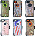 For Apple iPhone 5/5s Camo Case Cover(Clip Holster Fits Otterbox)