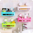 USA Kitchen Bathroom Shower Organizer Suction Cup Shelf Storage Basket Plastic