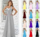 New Formal Long Chiffon Evening Party Ball Gown Bridesmaid Dress Stock Size 6-20