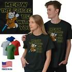 Meow Force You Cat T Shirt Tee Kitten Kitty Star Wars Funny T-Shirt Top $12.99 USD on eBay