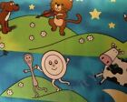 Hey Diddle Diddle the cat and the fiddle 100% cotton fabric nursery baby 59 inch