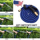 Deluxe 25 50 75 100FT Expandable Flexible Garden Water Hose Pipe + Spray Nozzle