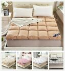 Feather Fabric Matress Plain Beds Protector Topper Double Queen King Size Bed