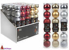 Christmas Decorations - 6 Luxury Christmas Baubles - 3 Colours