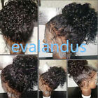 180% Density Pre-Plucked 360 Lace Frontal Long Natural Curly Wigs Bleach knots