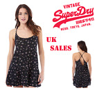 New Superdry Womens Summer Girl Vintage Ditsy Cami Dress Pop Buds Size XXS-L