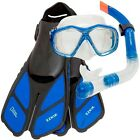 National Geographic Mask, Snorkel, Split Travel Fins & Mesh Bag - New