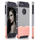 For iPhone X 8 6S 7 Plus Slim Hybrid Shockproof Case Hard Soft Heavy Duty Cover