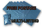 Metallic Blue Plastic Poly Mailing Bags Postal Mailers Durable Self Seal Flap