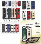 lot 8 Armor Shockproof Hybrid Ring Buckle Hard Case Cover iphone X 6s 7 8 plus