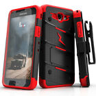 Galaxy J3 Emerge Case, Zizo Bolt w/ Kickstand and Screen Protector- J3 Prime