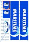1/50 Code3 Maritime Decals For WSI, Tekno, Cararama Volvo/ scania & Box Trailer