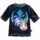 Clearance Star Wars Graphic T-Shirt The Force Awakens Rash Guard Black NWT