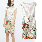 FREE GIFT +  VTG QUEEN FLORAL FLOWER PRINT WEDDING PARTY TOP TUBE BLOUSE DRESS